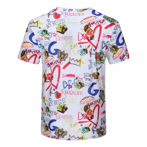 Replica Dolce & Gabbana D&G T-Shirts Short Sleeved For Men #840749 $23.00 USD for Wholesale