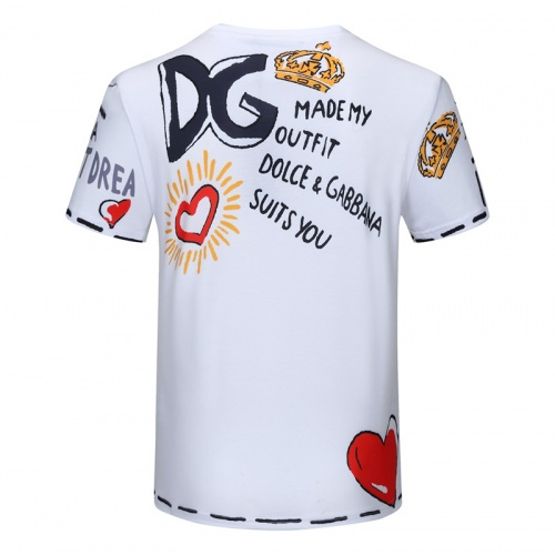 Replica Dolce & Gabbana D&G T-Shirts Short Sleeved For Men #840759 $23.00 USD for Wholesale