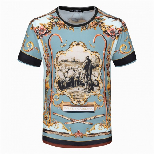Replica Dolce & Gabbana D&G T-Shirts Short Sleeved For Men #840762 $23.00 USD for Wholesale