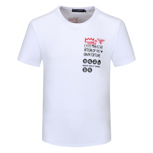 Replica Dolce & Gabbana D&G T-Shirts Short Sleeved For Men #840851 $23.00 USD for Wholesale