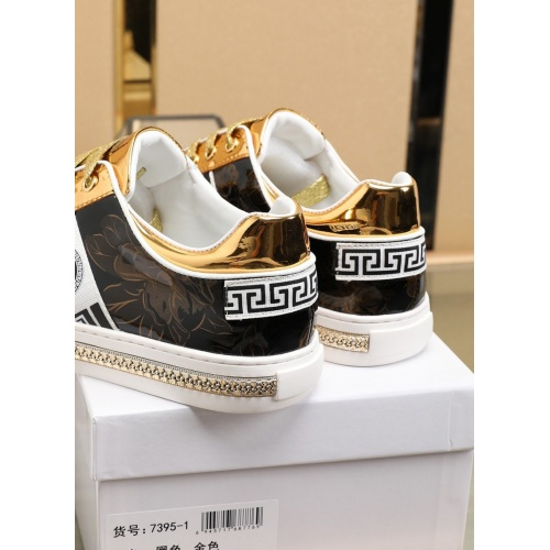 Replica Versace Fashion Shoes For Men #841376 $85.00 USD for Wholesale