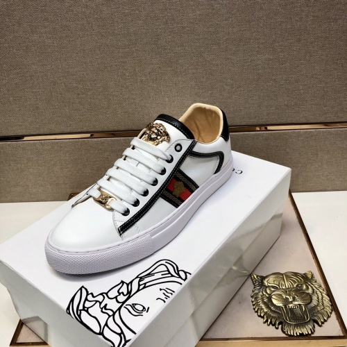 Replica Versace Casual Shoes For Men #841487 $76.00 USD for Wholesale