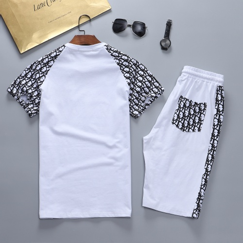 Replica Christian Dior Tracksuits Short Sleeved For Men #841591 $48.00 USD for Wholesale