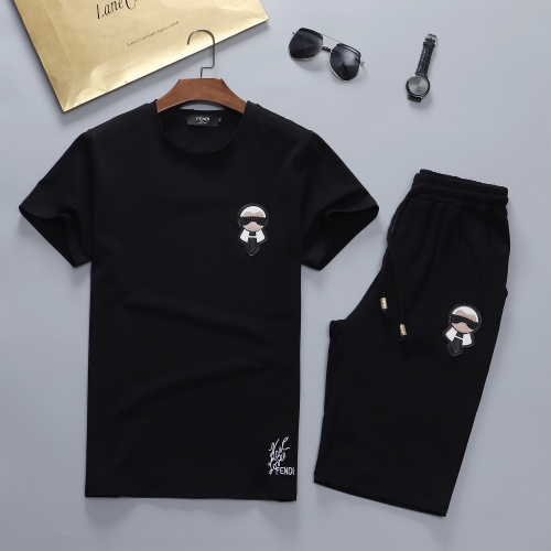 Fendi Tracksuits Short Sleeved For Men #841635 $48.00 USD, Wholesale Replica Fendi Tracksuits