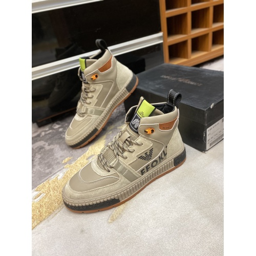 Armani High Tops Shoes For Men #841822