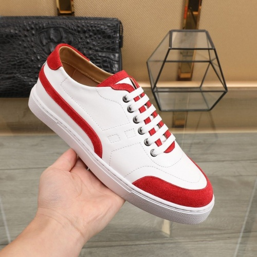 Replica Hermes Casual Shoes For Men #841906 $85.00 USD for Wholesale