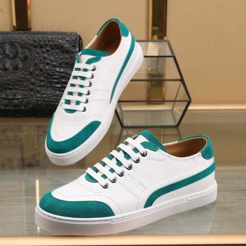 Replica Hermes Casual Shoes For Men #841907 $85.00 USD for Wholesale