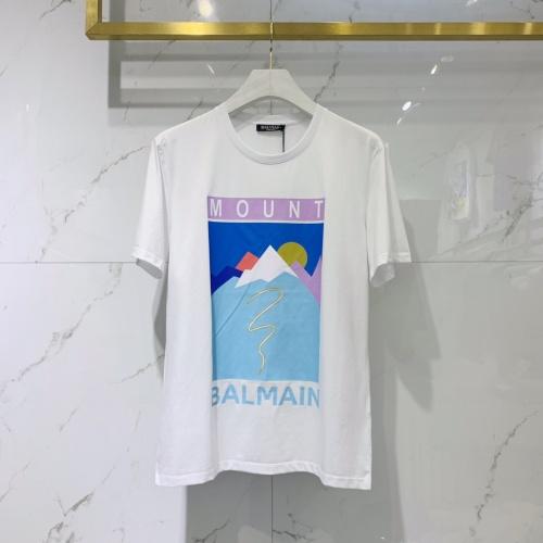 Balmain T-Shirts Short Sleeved For Men #842029 $41.00 USD, Wholesale Replica Balmain T-Shirts