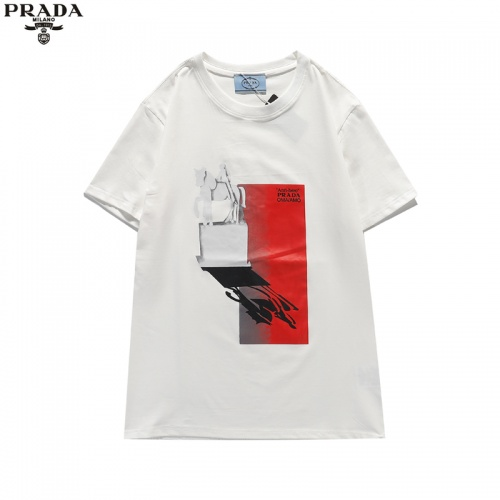Prada T-Shirts Short Sleeved For Unisex #842317