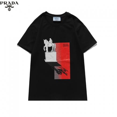 Prada T-Shirts Short Sleeved For Unisex #842318