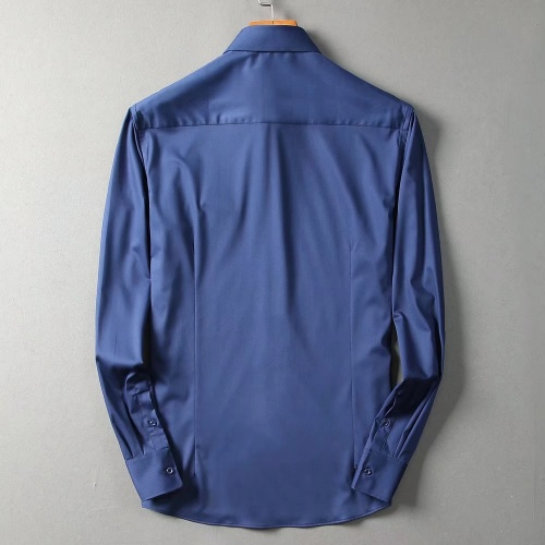 Replica Hermes Shirts Long Sleeved For Men #842486 $42.00 USD for Wholesale