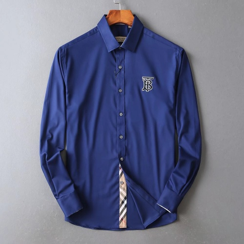 Burberry Shirts Long Sleeved For Men #842506 $42.00 USD, Wholesale Replica Burberry Shirts