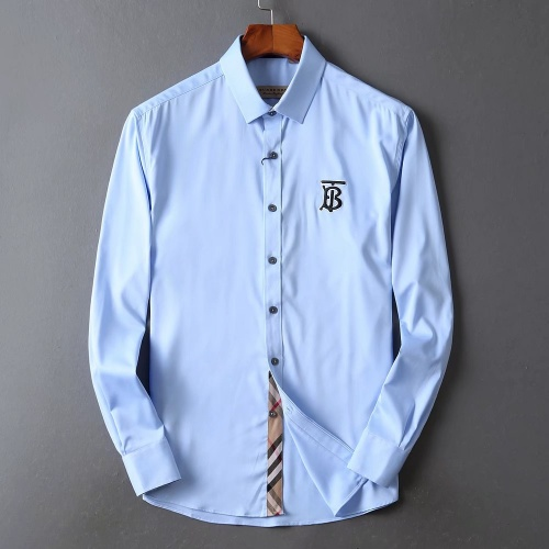 Burberry Shirts Long Sleeved For Men #842509 $42.00 USD, Wholesale Replica Burberry Shirts