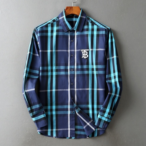 Burberry Shirts Long Sleeved For Men #842511 $42.00 USD, Wholesale Replica Burberry Shirts