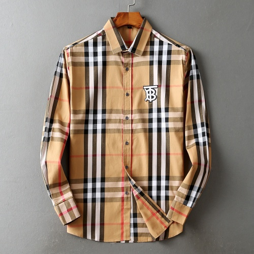 Burberry Shirts Long Sleeved For Men #842512 $42.00 USD, Wholesale Replica Burberry Shirts