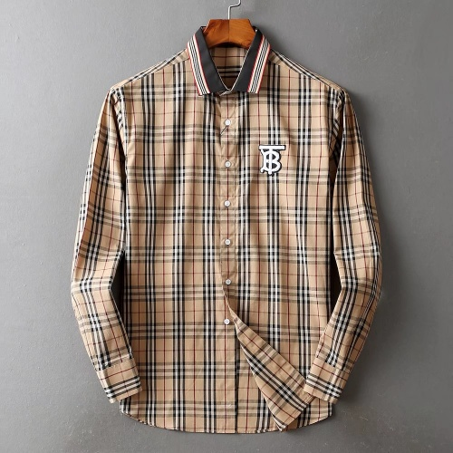 Burberry Shirts Long Sleeved For Men #842514 $42.00 USD, Wholesale Replica Burberry Shirts