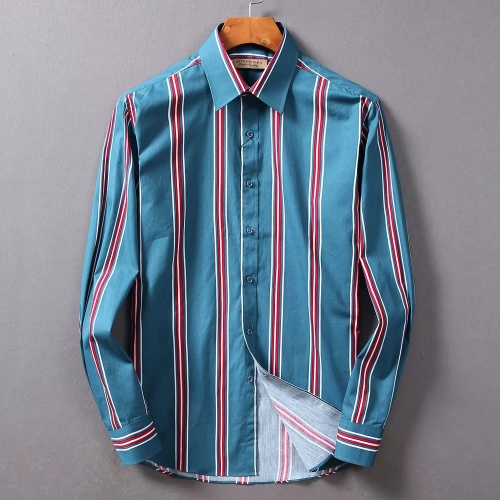 Burberry Shirts Long Sleeved For Men #842518 $42.00 USD, Wholesale Replica Burberry Shirts