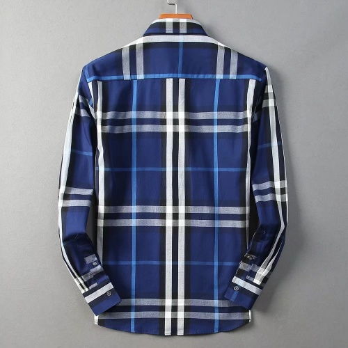 Replica Burberry Shirts Long Sleeved For Men #842520 $42.00 USD for Wholesale