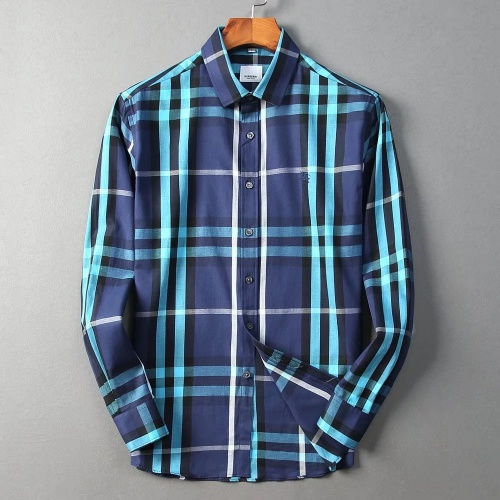 Burberry Shirts Long Sleeved For Men #842522 $42.00 USD, Wholesale Replica Burberry Shirts