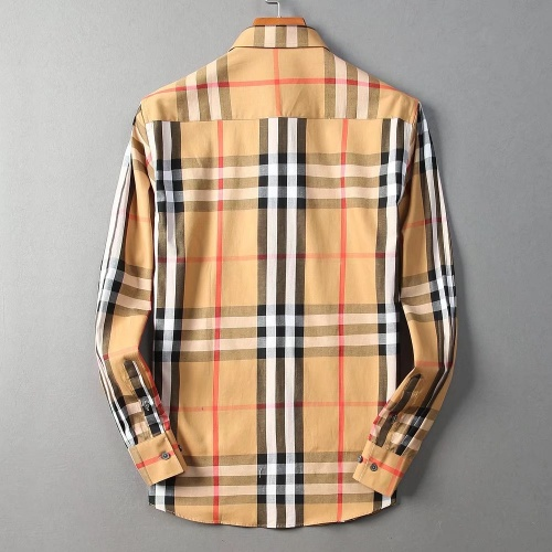Replica Burberry Shirts Long Sleeved For Men #842523 $42.00 USD for Wholesale