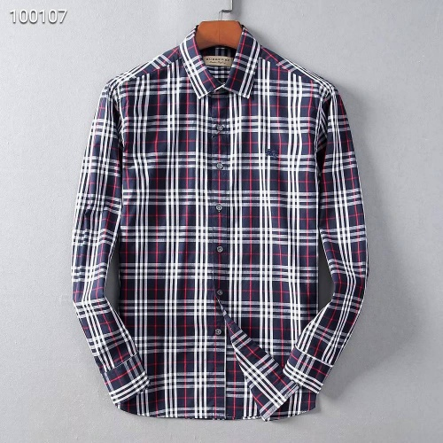 Burberry Shirts Long Sleeved For Men #842524 $42.00 USD, Wholesale Replica Burberry Shirts