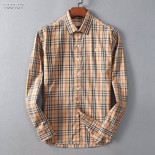 Burberry Shirts Long Sleeved For Men #842525 $42.00 USD, Wholesale Replica Burberry Shirts