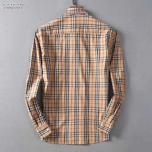 Replica Burberry Shirts Long Sleeved For Men #842525 $42.00 USD for Wholesale