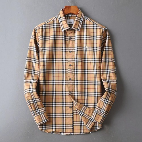 Burberry Shirts Long Sleeved For Men #842527 $42.00 USD, Wholesale Replica Burberry Shirts
