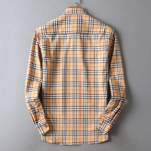 Replica Burberry Shirts Long Sleeved For Men #842527 $42.00 USD for Wholesale