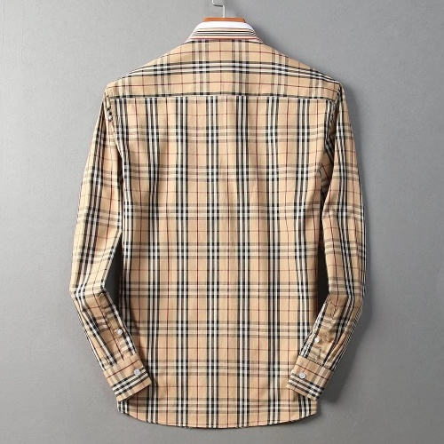 Replica Burberry Shirts Long Sleeved For Men #842528 $42.00 USD for Wholesale