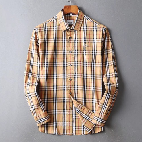 Burberry Shirts Long Sleeved For Men #842532 $42.00 USD, Wholesale Replica Burberry Shirts