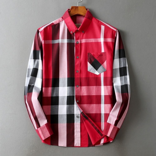 Burberry Shirts Long Sleeved For Men #842534 $42.00 USD, Wholesale Replica Burberry Shirts