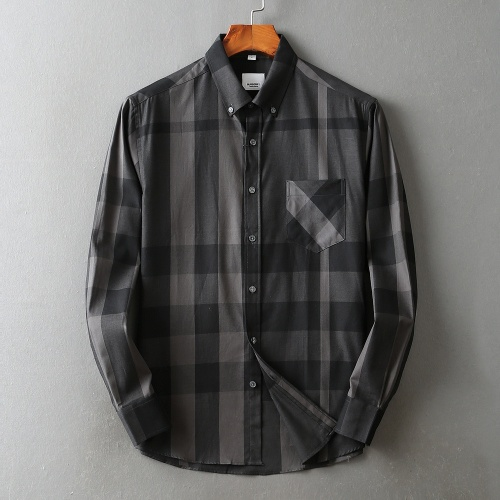 Replica Burberry Shirts Long Sleeved For Men #842535 $42.00 USD for Wholesale