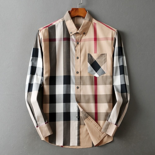 Burberry Shirts Long Sleeved For Men #842536 $42.00 USD, Wholesale Replica Burberry Shirts