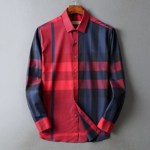 Burberry Shirts Long Sleeved For Men #842537 $42.00 USD, Wholesale Replica Burberry Shirts