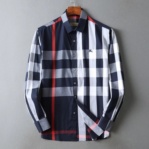 Burberry Shirts Long Sleeved For Men #842538 $42.00 USD, Wholesale Replica Burberry Shirts