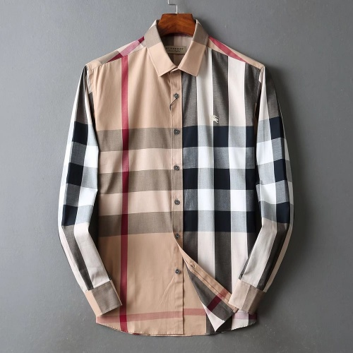 Burberry Shirts Long Sleeved For Men #842539 $42.00 USD, Wholesale Replica Burberry Shirts