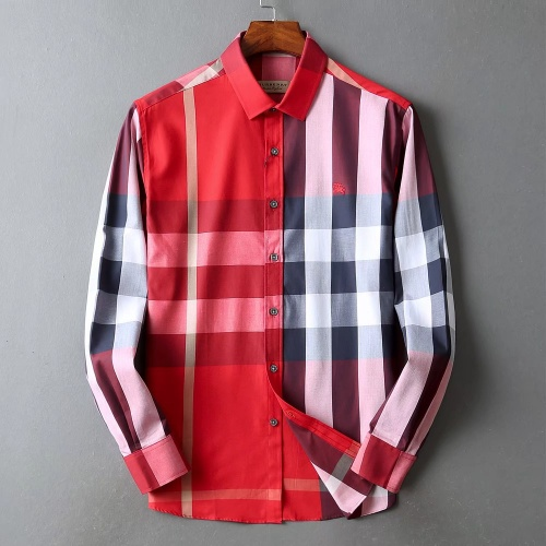 Burberry Shirts Long Sleeved For Men #842540 $42.00 USD, Wholesale Replica Burberry Shirts