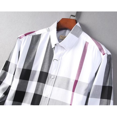 Replica Burberry Shirts Long Sleeved For Men #842543 $42.00 USD for Wholesale
