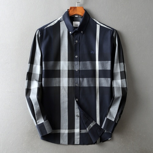 Burberry Shirts Long Sleeved For Men #842544 $42.00 USD, Wholesale Replica Burberry Shirts