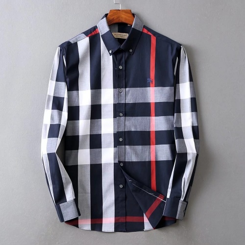 Burberry Shirts Long Sleeved For Men #842545 $42.00 USD, Wholesale Replica Burberry Shirts