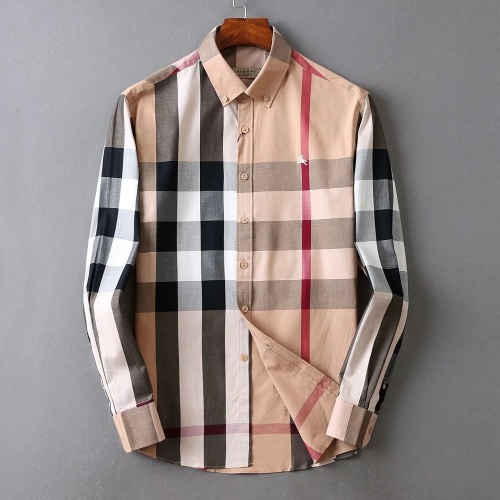Burberry Shirts Long Sleeved For Men #842546 $42.00 USD, Wholesale Replica Burberry Shirts