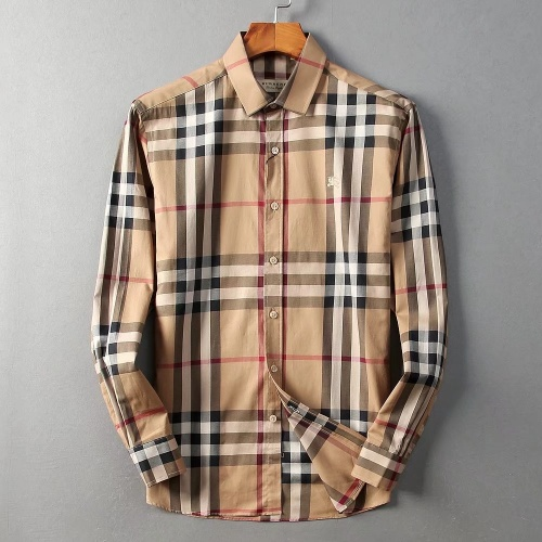 Burberry Shirts Long Sleeved For Men #842549 $42.00 USD, Wholesale Replica Burberry Shirts