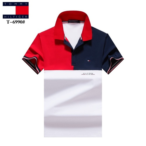 Tommy Hilfiger TH T-Shirts Short Sleeved For Men #842727 $27.00 USD, Wholesale Replica Tommy Hilfiger TH T-Shirts