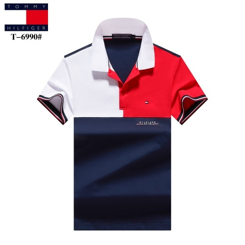 Tommy Hilfiger TH T-Shirts Short Sleeved For Men #842728 $27.00 USD, Wholesale Replica Tommy Hilfiger TH T-Shirts