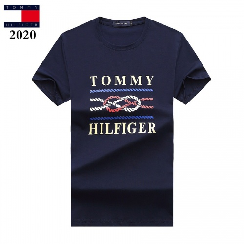 Tommy Hilfiger TH T-Shirts Short Sleeved For Men #842785 $25.00, Wholesale Replica Tommy Hilfiger TH T-Shirts