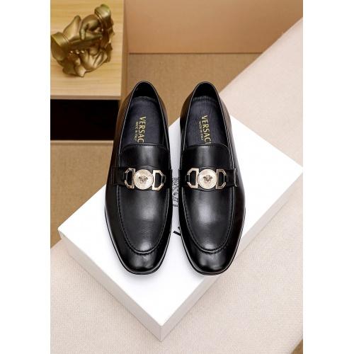 Versace Leather Shoes For Men #842938 $80.00 USD, Wholesale Replica Versace Leather Shoes