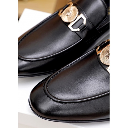 Replica Versace Leather Shoes For Men #842938 $80.00 USD for Wholesale