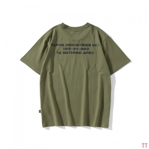 Replica Bape T-Shirts Short Sleeved For Men #843048 $27.00 USD for Wholesale