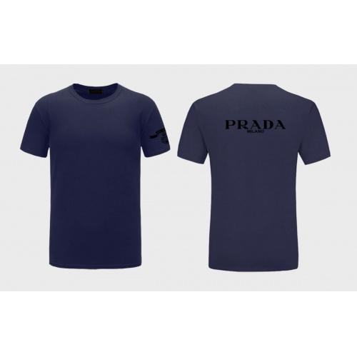 Prada T-Shirts Short Sleeved For Men #843578 $27.00 USD, Wholesale Replica Prada T-Shirts